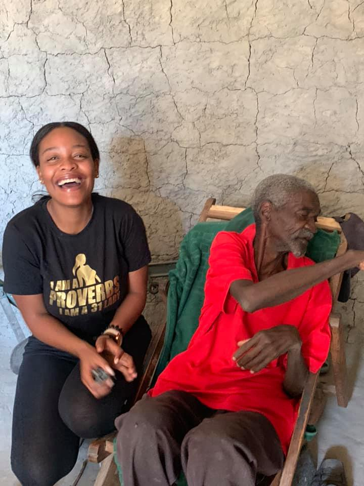 Iris Kaingu with With Her Grandfather